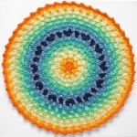 Orange Oracle mandala 28cm